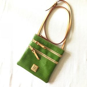 Dooney & Bourke Wavy Green Leather Crossbody
